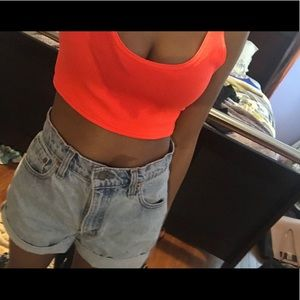 BRIGHT NEON ORANGE CROP TOP